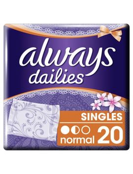 Always Dailies Singles Panty Liners Fresh X 20 by Always