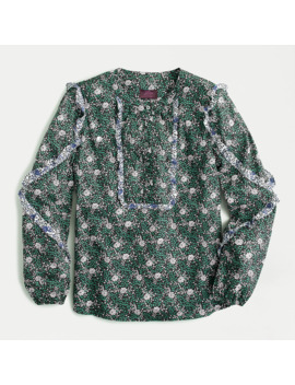 Ruffle Sleeve Blouse In Mixed Franklyn® Floral by Ruffle Sleeve Blouse In Mixed Franklyn