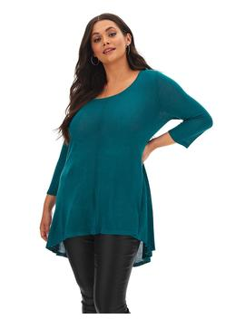 Teal Dip Back Knitted Swing Tunic by Simply Be