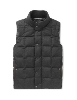 Quilted Super 120s Wool Down Gilet by Canali