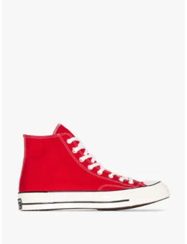 Red Chuck Taylor 70 High Top Sneakers by Converse