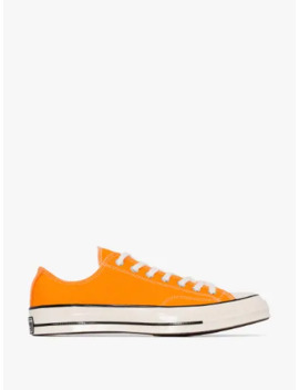 Orange Chuck 70 Low Top Sneakers by Converse