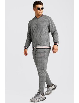 Big & Tall Tracksuit With Man Embroidery by Boohoo