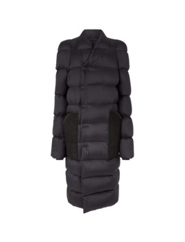 Oversized Shearling Pocket Puffer Coat by Rick Owens