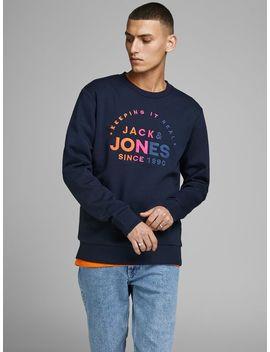 Embroidered Logo Sweatshirt by Jack & Jones