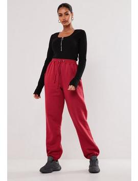 Tall Red 90s Joggers by Missguided