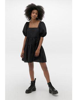 Uo Poplin Fleur Babydoll Mini Dress by Urban Outfitters