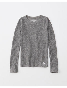 Ribbed Long Sleeve Icon Tee by Abercrombie & Fitch