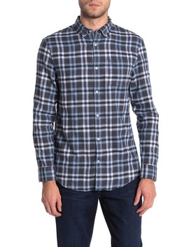 Long Sleeve Heathered Flannel Shirt by Original Penguin