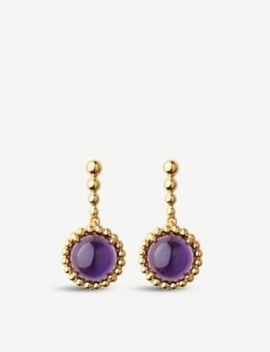 18ct Yellow Gold Vermeil And Amethyst Earrings by Links Of London