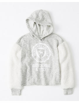 Cozy Sleeve Logo Hoodie by Abercrombie & Fitch