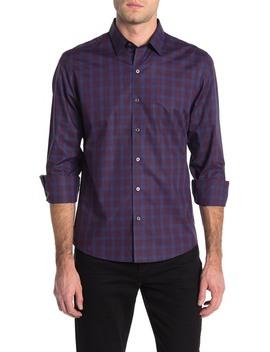 Raymond Long Sleeve Plaid Print Sport Fit Shirt by Zachary Prell
