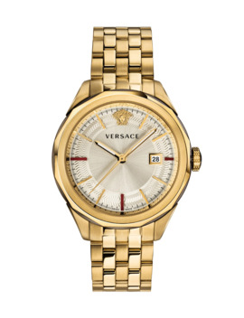 Men's Glaze 43mm Bracelet Watch, Gold Ip by Versace
