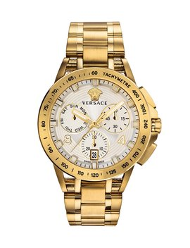 Men's 45mm Sport Tech Chronograph Watch, Gold by Versace