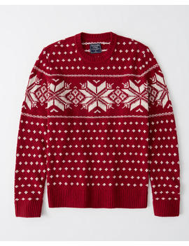 Patterned Crewneck Sweater by Abercrombie & Fitch