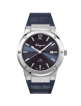 Men's F 80 Slim Leather Watch by Salvatore Ferragamo