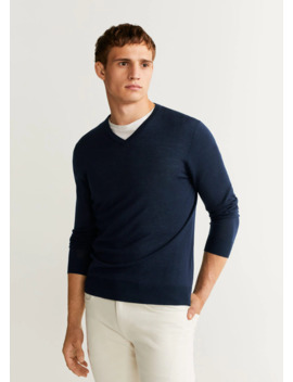 100 Percents Merino Wool Washable Sweater by Mango