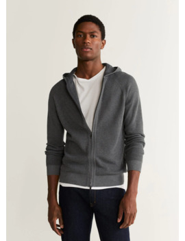 Zip Hooded Cardigan by Mango
