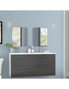 Iorio Modern 1219mm Wall Hung Double Vanity Unit by Ebern Designs