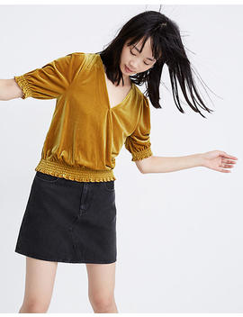 Velvet Smocked Crossover Top by Madewell