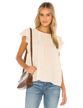 Hanalei Blouse In Sand by Spell & The Gypsy Collective