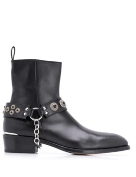 Harness Cuban Heel Boots by Alexander Mc Queen