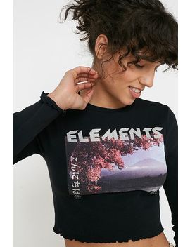 Uo Elements Cropped Lettuce Edge Top by Urban Outfitters