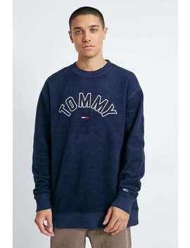 "TommyJeans – Marineblaues Sweatshirt ""Reverse"" Mit Rundhalsausschnitt by Tommy Jeans Shoppen"