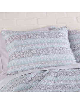 Levtex Home Lena Reversible Full/Queen Quilt Set In Spa Blue by Bed Bath And Beyond