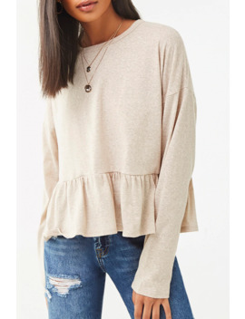 Drop Sleeve Flounce Top by Forever 21