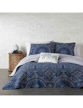 Levtex Home Bungalow Reversible Full/Queen Quilt Set In Navy by Bed Bath And Beyond
