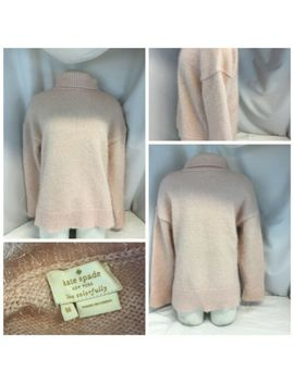 Kate Spade Turtleneck Sweater M Pink Poly Metallic Lnwot Ygi J9 393 by Kate Spade New York