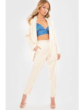 Laura Jade Cream 'addy' Pants by In The Style