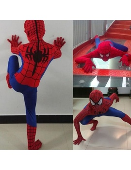 Red Spiderman Cosplay Costume Kids Christmas Party Spiderman Marvel Bodysuit Mask Jumpsuits by Wish