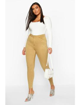 Plus Pocket Stretch High Waist Skinny Jean by Boohoo