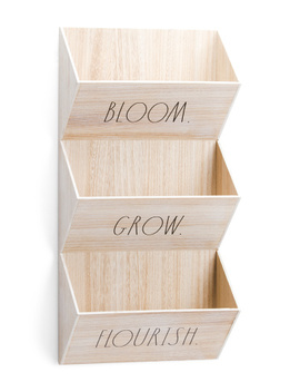Wooden Wall Planter by Tj Maxx