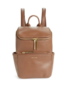 Mini Brave Faux Leather Backpack by Matt & Nat