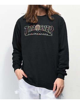 Thrasher Cable Car Black Long Sleeve T Shirt by Thrasher