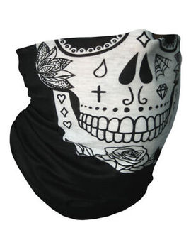 Multi Purpose Bandana Tube Camo Skull Face Mask Neck Warmer Dust Shield Snood by Camp Teck