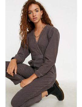 Uo Elyn Grey Corduroy Jumpsuit by Urban Outfitters