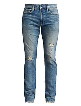 Asher Sole Distressed Skinny Slim Jeans by Joe's Jeans