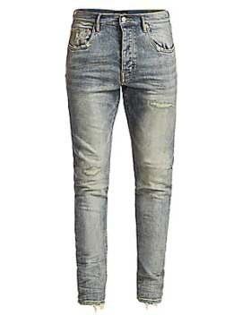 P001 Slim Fit Distressed Jeans by Purple Brand