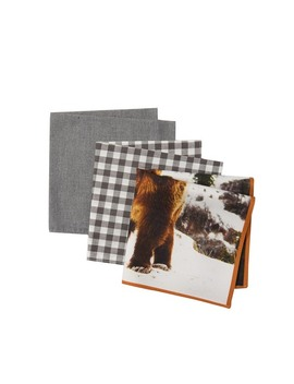 Montana Check Pocket Squares   Pack Of 3 by 14th & Union