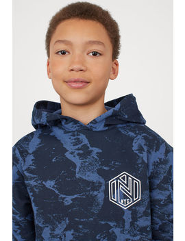 Hoodie With Graphic Print by H&M