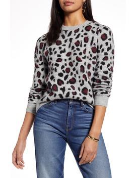 Leopard Spot Crewneck Pullover by Halogen®