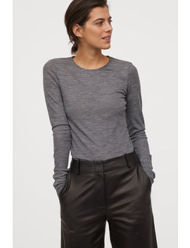 Merino Wool Top by H&M