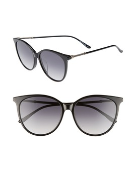 57mm Cat Eye Sunglasses by Bottega Veneta