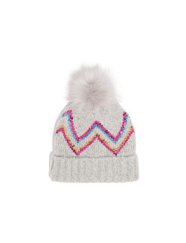 Chevron Sequin Beanie by Oasis