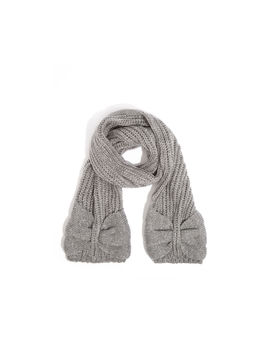 Knitted Bow Scarf by Oasis