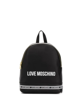 Logo Print Stripe Detail Backpack by Love Moschino